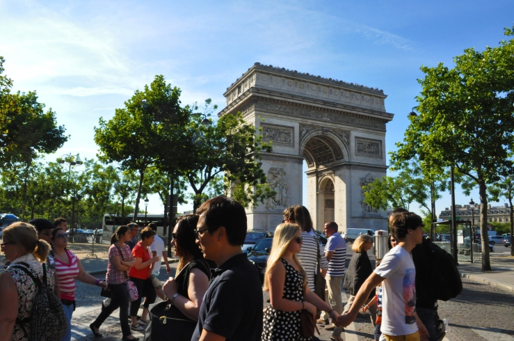 Arc de Triomphe from the streets